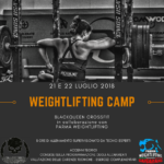 Weightlifting CAMP con la Parma Weightlifting - 21-22 Luglio